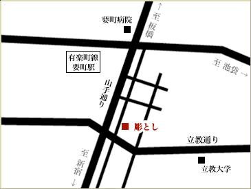 当スタジオまでの地図